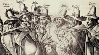 Guy Fawkes and his fellow plotters