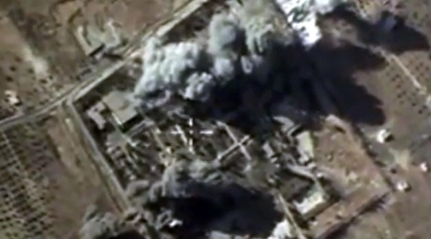 Explosions after airstrikes carried out by Russian Air Force on an Islamic State training camp in the Syrian province of Idlib. © Russian Defence Ministry