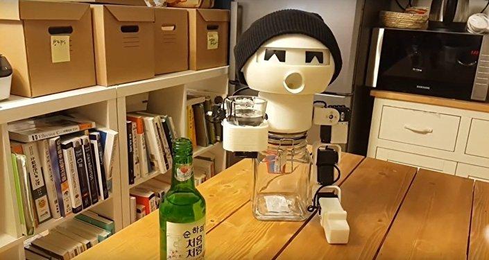 Robot Drinky - a robotic drinking buddy.