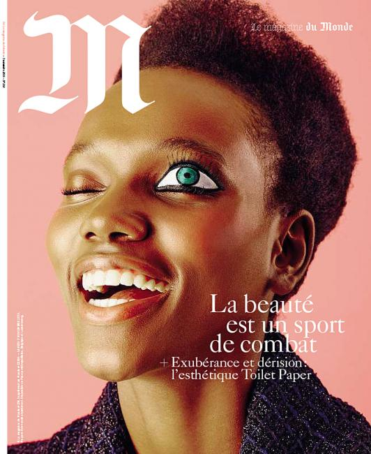 French Magazine Le Monde features one big, blatant, one-eye sign.