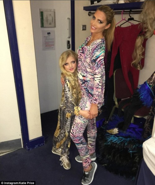 Katie Star, became a celebrity in Britain due to her sex appeal is dragging her eight year old daughter into this sleazy business by disguising her into a mini version of her.