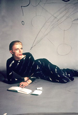 """It is the same outfit as worn on the cover of """"From Station to Station"""" on which he is seen drawing the Kabbalistic tree of life."""