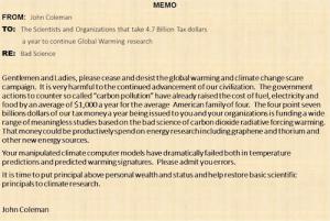 manmade global warming john coleman