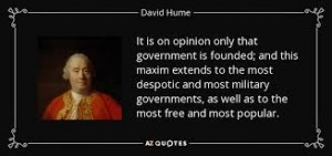 political authority governments only founded-on-opinions david hume quote