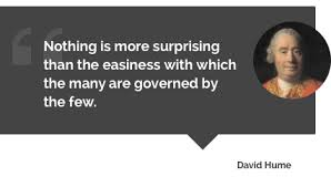 political authority many governed by few david hume quote