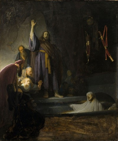 """""""The Raising of Lazarus"""" by Rembrant."""