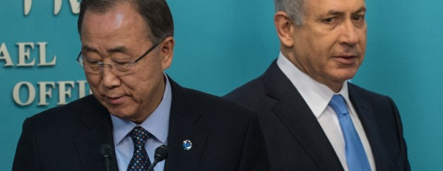 The UN Chief has criticised Israeli treatment of Palestinians, calling Israel a bunch of