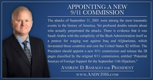 Andy 2016 presidential candidate new 9/11 commission
