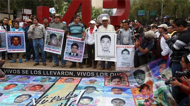 The attorney general said the students had been taken by the corrupt officers and given to a drug cartel [Reuters]