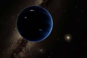 "Artist's illustration of ""Planet Nine"""