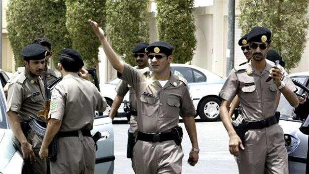 File photo of Saudi police officers
