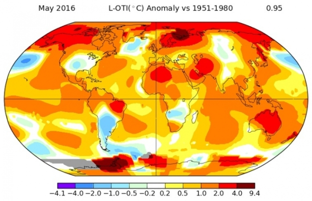 May Was Planet's Hottest Month on Record, NASA Says