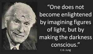 enlightenment making darkness light jung quote