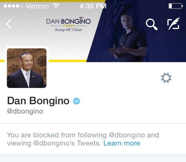Dan Bongino Tweet Blocked