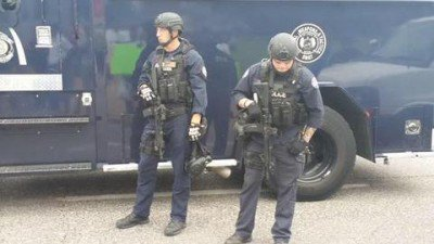 Swat officers on the scene of the shooting