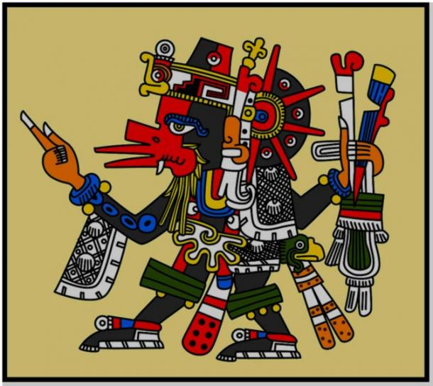 Quetzalcoatl, the feathered serpent god