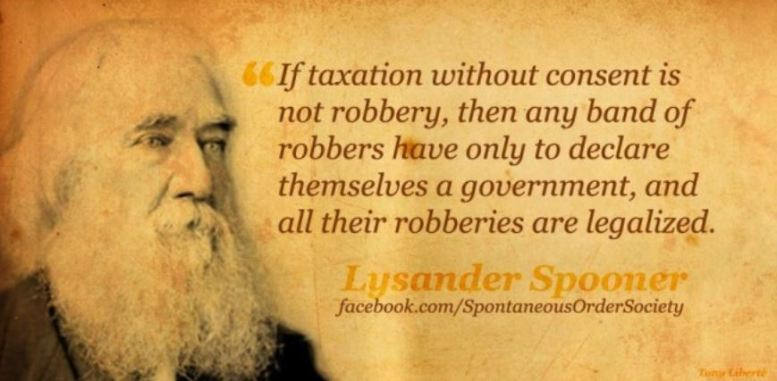 taxation is theft lysander