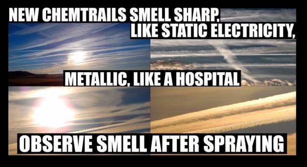 chemtrails smell tast
