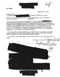 jfk murdered cia dulles memo ufo files