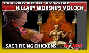 sacrificing chicken to moloch hillary clinton