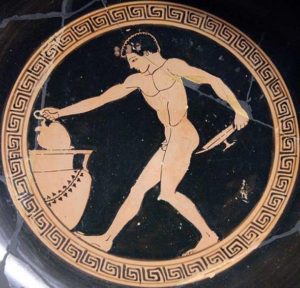 Wine boy at a Greek symposium.