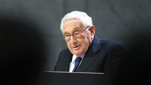 Former US secretary of state Henry Kissinger speaks at the Nobel Peace Prize Forum in Oslo December 11, 2016. (Photo by AFP)