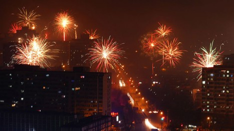 Fireworks welcome Lunar New Year across China