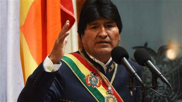 Bolivia's President Evo Morales speaks at a ceremony to mark 11 years of his administration during a session of the congress in La Paz, Bolivia, January 22, 2017. (Photo by Reuters)