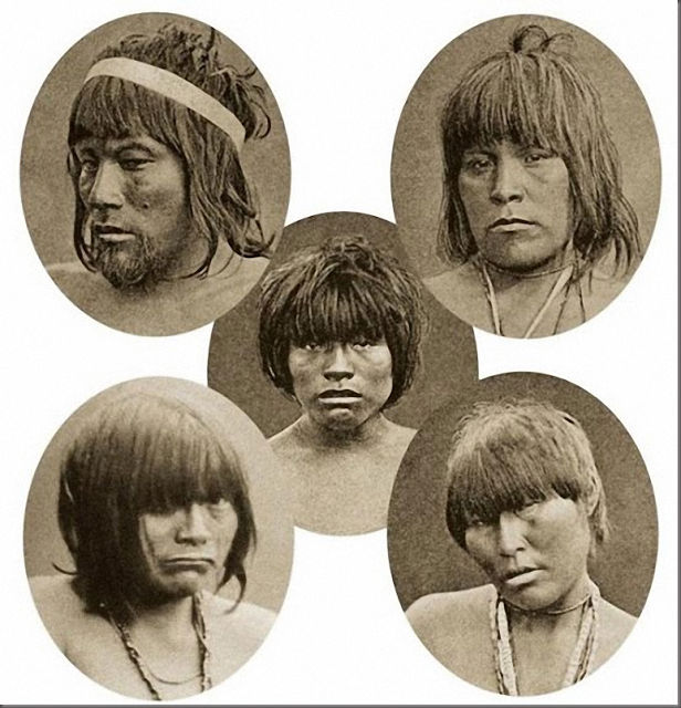 Human zoos existed 16 Depressing Photos That Will Destroy Your Faith In Humanity - In 1881, five Indians of the Kawesqar tribe (Tierra del Fuego, Chili) were kidnapped to be transported to Europe to be displayed.