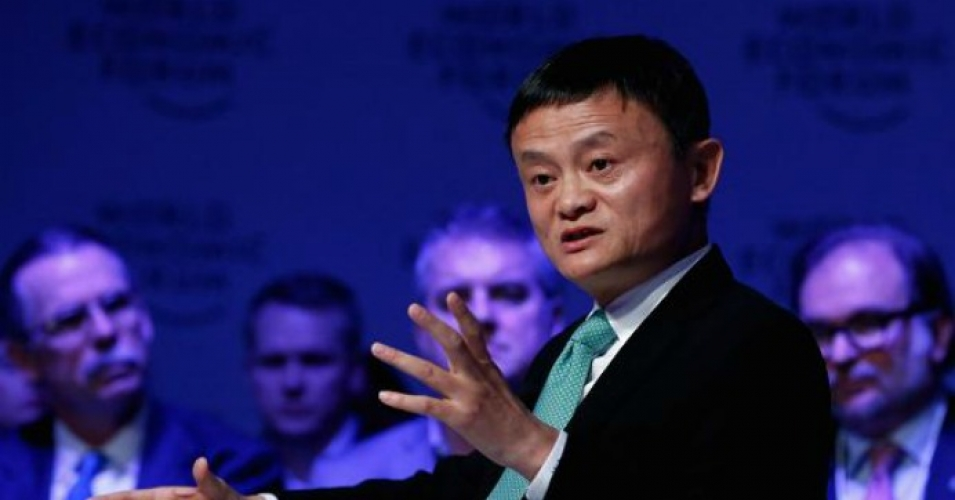 """""""In the past 30 years, America had 13 wars spending $2 trillion,"""" said Alibaba founder Jack Ma. """"What if the money was spent on the Midwest of the United States?""""(Photo via CNBC)"""