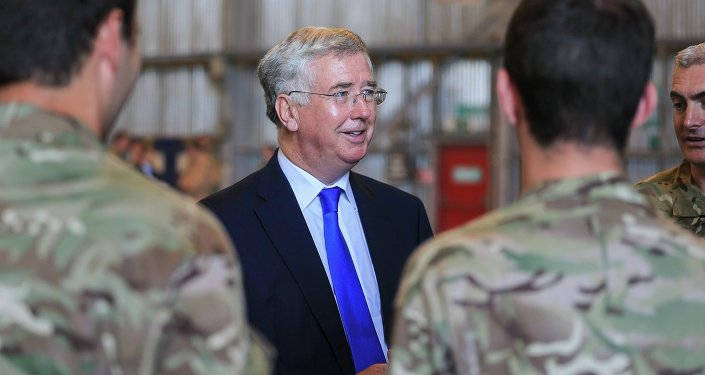 The Secretary of State for Defence Michael Fallon