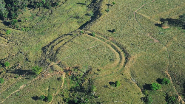 The geoglyphs were likely made by temporary clearings of the bamboo forests, but researchers don't believe they were used for villages.
