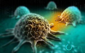 cancer cell digital rendition illustration