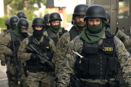 militarized cops