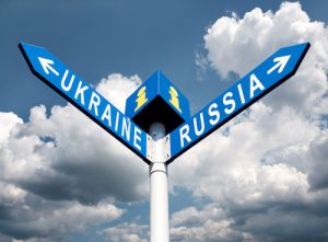 mixed messages on russia signpost ukraine russia