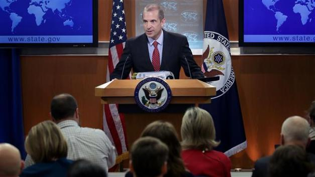 US State Department acting spokesman Mark Toner answers reporters' questions on March 7, 2017. (AFP photo)