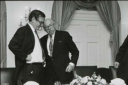 Then-Vice President George H.W. Bush with CIA Director William Casey at the White House on Feb. 11, 1981. (Photo credit: Reagan Library)