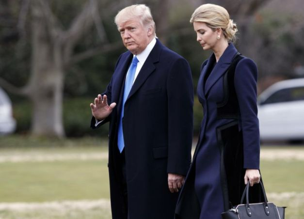 Ivanka Trump with her father, the President, promising to rid Washington DC of pedophiles once and for all