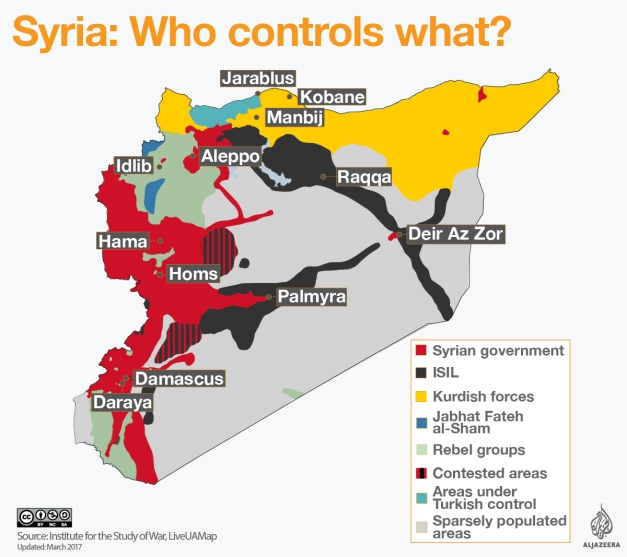 syrian civil war map who controls what