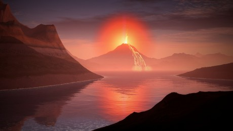 Volcano Lava Landscape - Public Domain