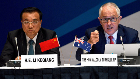 Australia's Prime Minister Malcolm Turnbull and Chinese Premier Li © Dan Himbrechts
