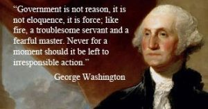 anarchy government is not reason eloquence force washington quote