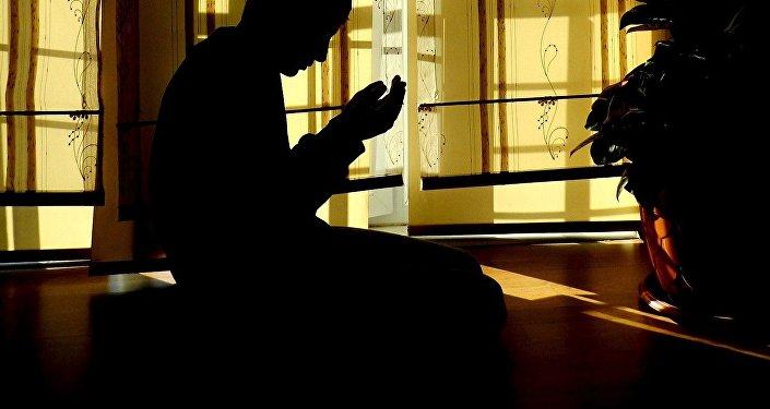 A Muslim praying
