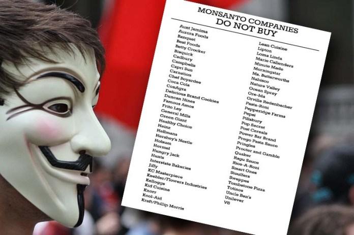 "Printable List of Monsanto Owned ""Food"" Producers List"