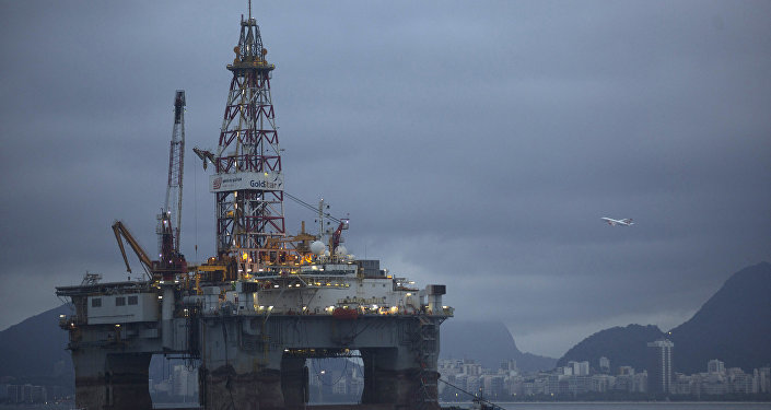 An oil-drilling platform