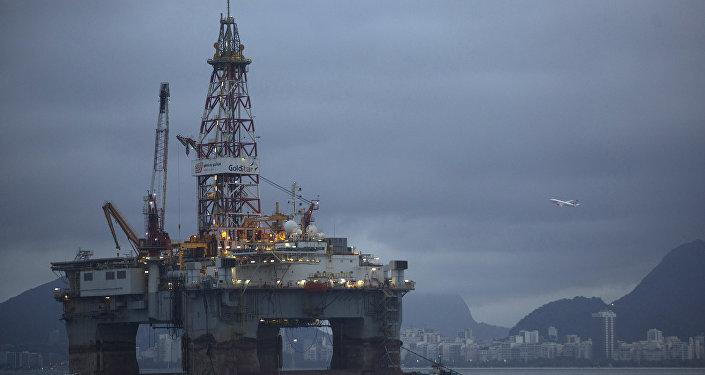 An oil-drilling platform
