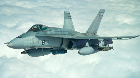 FILE PHOTO: A Royal Australian Air Force F/A-18A Hornet © Wikipedia
