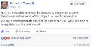 dark suits Trump NATO obsolete