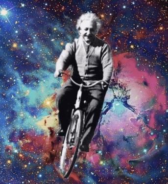 Einstein on Bike