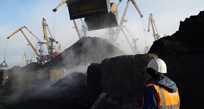Coal unloaded at Odessa port. File photo